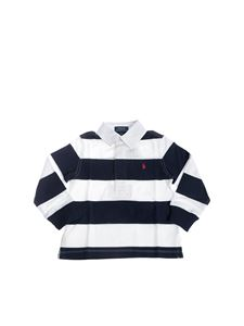 POLO Ralph Lauren - Striped polo shirt in blue and white with logo embroidery