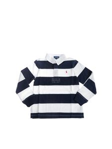 POLO Ralph Lauren - Long sleeve striped polo in white and blue