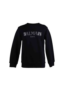 Balmain - Laminated logo  sweatshirt in black