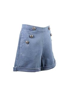 Balmain - High-waisted denim shorts