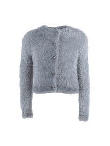 Balmain - Cardigan Metallic Fuzzy color argento