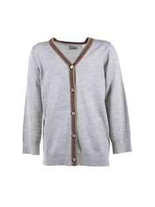 Burberry - Gray cardigan with iconic detail