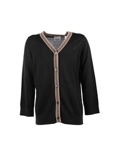 Burberry - Black cardigan with iconic detail