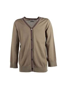 Burberry - Beige cardigan with iconic detail