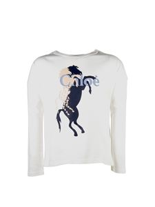 Chloé - Horse print sweatshirt in white