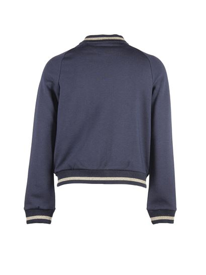 Chloé - Navy blue bomber with embroidery