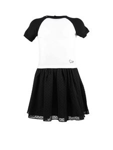 Baby Dior - Bicolor dress with plumetisse skirt