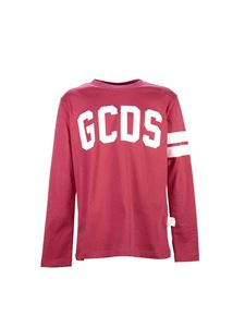 GCDS - Red long sleeve t-shirt with logo