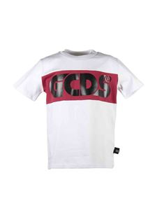 GCDS - Logo print T-shirt in white