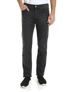 Givenchy - Jeans nero con stampa Givenchy