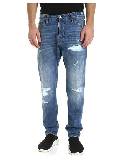 Dsquared2 - Jeans Rider blu destroyed