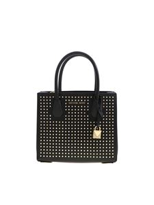 Michael Kors - Mercer bag in black with rhinestones and studs