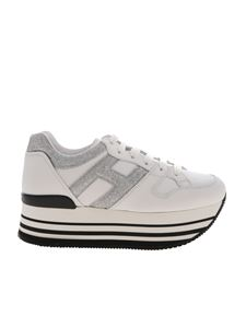 Hogan - Maxiplatform H283 sneakers in black and white
