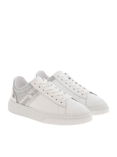 Hogan Spring Summer 2020 h365 sneakers in white and silver ...