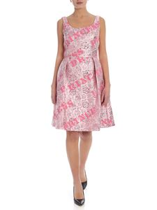 Moschino - Jacquard dress in pink with silk ribbon