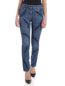 Moschino - Scars jeans in blue