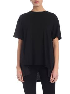 DKNY - Pleated t-shirt in black