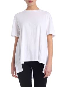 DKNY - T-shirt in white with pleats on the back