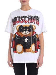 Moschino - T-shirt Bat Teddy Bear bianca