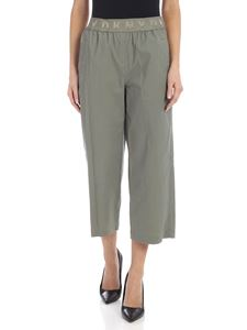 DKNY - Branded elastic pants in sage green