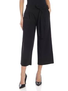 DKNY - Crop pants in black with bow at the waist