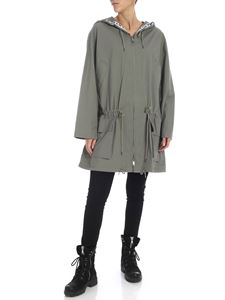 DKNY - Oversize overcoat in sage green