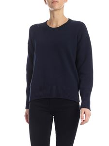 Kenzo - Pullover in blue with inlay on the back