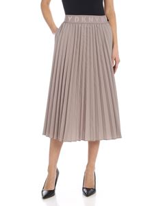 DKNY - Pleated skirt in taupe color with branded elastic