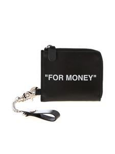 Off-White - Porta monete Quote Chain