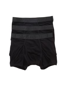 Off-White - Set di 3 boxer in jersey stretch nero