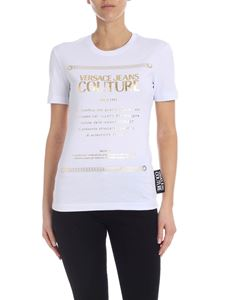 Versace Jeans Couture - Label printed T-shirt in white