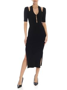 Versace Jeans Couture - Rear cut-out dress in black