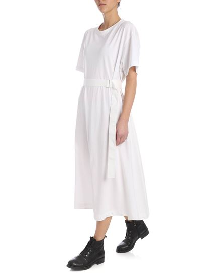 Y-3 - Belted long dress in white
