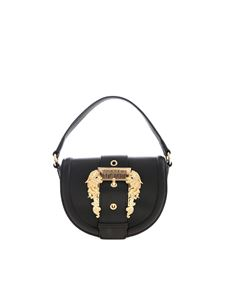 Versace Jeans Couture - Buckle Baroque shoulder bag in black