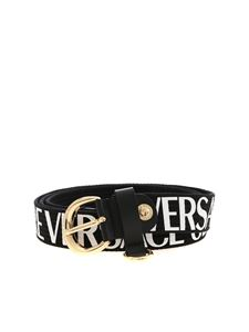 Versace Jeans Couture - Logo and hook belt in black
