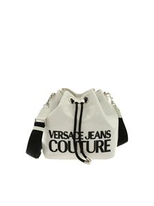 Versace Jeans Couture - Macro Logo bucket bag in white