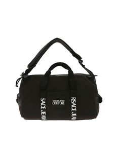 Versace Jeans Couture - Rubber logo tag duffle bag in black