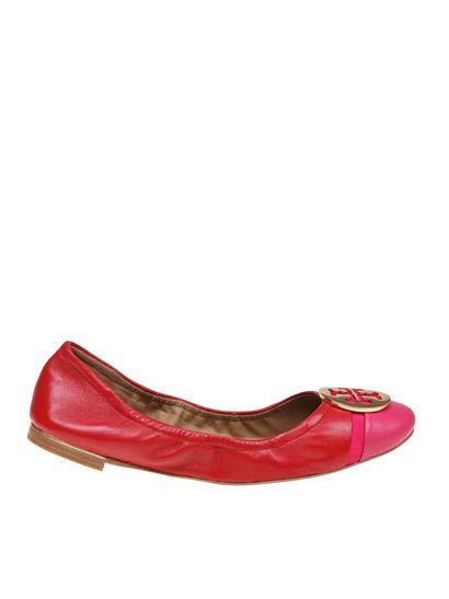 Tory Burch - Minnie Cap-Toe Ballet flats in red and fuchsia