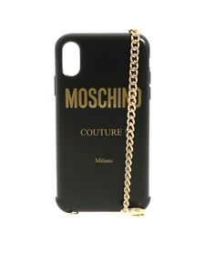 Moschino - Iphone XR cover in black with Moschino logo