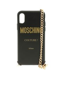 Moschino - Iphone XS and S cover in black with Moschino logo