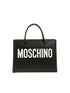 Moschino - MOSCHINO logo handbag in black