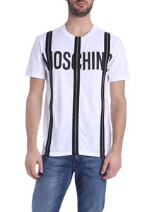 Moschino - Front zip T-shirt in white