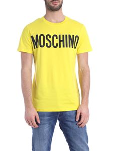 Moschino - Moschino print T-shirt in yellow