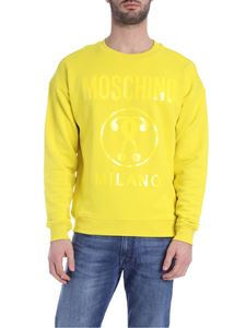 Moschino - Double Question Mark sweatshirt in yellow