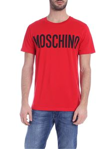 Moschino - Moschino print T-shirt in red