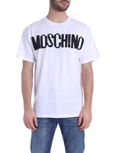 Moschino - Zip logo t-shirt in white