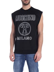 Moschino - Sleeveless sweatshirt in black