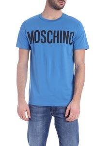 Moschino - T-shirt in blue with Moschino print