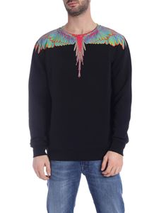 Marcelo Burlon - Fluo Wings sweatshirt in black