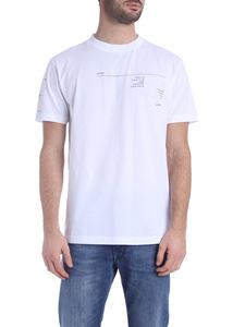 Marcelo Burlon - Abstract t-shirt in white